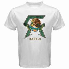 New SAUL ALVAREZ CANELO Boxing Champion Symbol Men's White T-Shirt Size S to 3XL