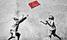 POSTER BILD BILDER XXL POP ART GRAFFITI BANKSY ABSTRAKT KUNST S/W BIS 150x90