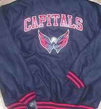 NEW NHL Washington Capitals Men Varsity Coat Jacket 2XL XXL NEW NWT