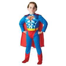 Boys Superman Deluxe Metallic Muscle Chest Fancy Dress Costume