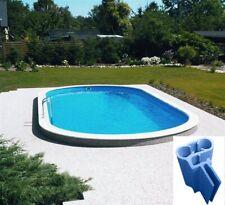 Pool Set oval komplett Schwimmbecken Filteranlage + Leiter + Spezialhandlauf