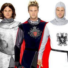 Caballeros medievales para Hombre Vestido Elegante Cruzado Libro Día Semana Armour Adultos Disfraces