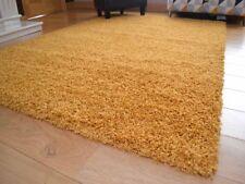 Ochre Mustard Gold Small Extra Large Soft Thick Plain Shaggy Floor Mat Rug Cheap