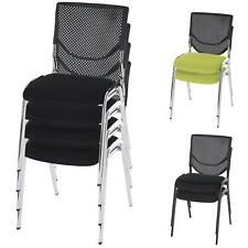 2x oder 4x Besucherstuhl T401, Konferenzstuhl stapelbar, Textil