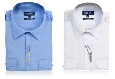 Men's NOMA Pilot Shirt - Short Sleeved (NON-IRON- STAIN, OIL & WATER REPELLENT)*