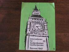 Germany Railroad Timetable Summer 1967 London Dover Munchen Vintage Brochure