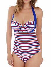 Lepel Swimwear Sailor Halter Swimsuit 68682 Blue/Red/White
