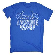 Awesome Beard Looks Like MENS T-SHIRT tee birthday gift dad facial hair funny