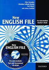 Oxford NEW ENGLISH FILE Pre-Intermediate Teacher's Book+CD-ROM New 9780194518888