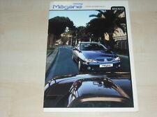 36184) Renault Megane Coupe & Cabrio Polen Prospekt 199?