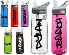 2 x Personalised Name Stickers - Drinks Bottle Gym Bike Water Graffiti 2 sports