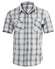 Camicia Uomo Manica Corta Cotone Quadri Scozzese Casual GIROGAMA 2380IT