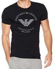 EMPORIO ARMANI T shirt Burgonuovo,11 Men's cotton Tshirt in Black - Size M L XL