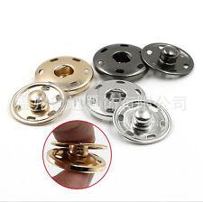 15Pcs Metal Buttons Snap Fastener Press Stud Popper Sew On Craft 10mm-21mm