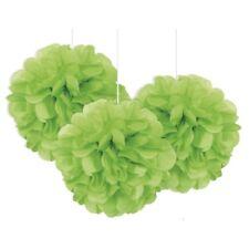 Vert Citron Mini Puff Boules 3pk Papier Décoration de Fête Mariage Baptême BBQ