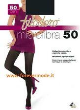 3 Collant donna Filodoro microfibra 50den coprente tuttonudo art Microfibra 50
