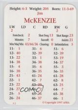 1997-98 APBA #JIMC Jim McKenzie Phoenix Coyotes Hockey Card