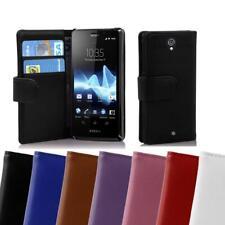 Funda Carcasas para Sony Xperia T Case Cover cuero artificial liso