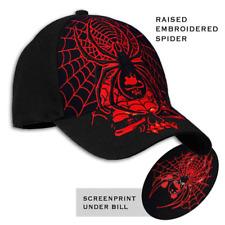 BIKER SPIDER WEB SKULL BALL CAP HAT