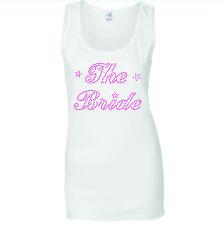 La Novia Gallina Noche Pink Crystal Rhinestone Chalecos Tank Top Todos Los Tamaños