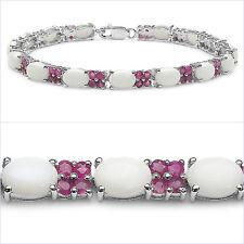 Schmuck-Schmidt-Rubin/Opal Armband-75 Edelsteine-925 Silber Rhodin.-10,50Karat