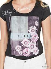 GUESS Jeans Glitter Flower Tank T-shirt Tee T shirt Top Blouse NWT XS,S,M,L,XL