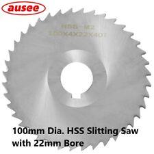 100mm Dia. HSS Slitting Saw with 22mm Bore (0.5mm - 5.0mm Width) 1pcs