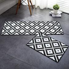 Soft Flannel Anti-slip Indoor Outdoor Rug Kitchen Floor Door Mat Bathroom Carpet