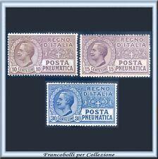 Italia Regno Posta Pneumatica n. 1/3 CENTRATI Integri**