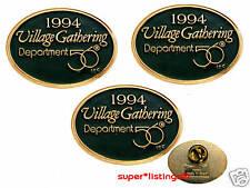 Dept. 56 Promotional Pin Set of 3 Village Gathering 1994