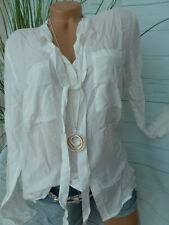 Tom Tailor Bluse Damen Shirt Gr. L bis XL Creme weiß (749) mit Schluppe
