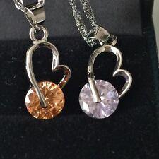New GP Jewelry Girl Woman Necklace Austrian Crystal Heart Wheel Fortune JG32