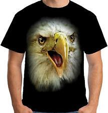 Velocitee HOMME NEUF tête aigle Bald t shirt Big Bird face a18276