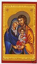 SANTINO HOLY CARD SANTA FAMIGLIA IN POLVERE D'ORO