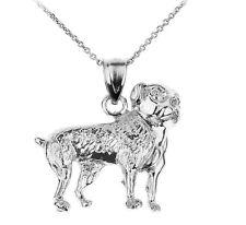 Sterling Silver American Bulldog Pendant Nekclace