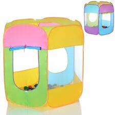 Pop Up Tente de joux pour enfanf bebe maison 6 coutes avec 100 balles