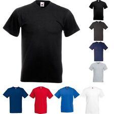 Uomo Fruit Of The Loom Valore Peso Scollo V Cotone Manica Corta T-Shirt Top