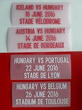 Matchdetail 2016 für Trikot Ungarn for shirt jersey Hungary