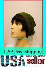 hunter green man boy thin Fashion Beret Beanie CROCHET French skull CAP HAT