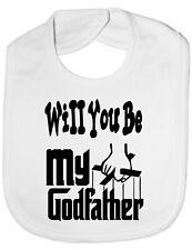 Will You Be My Godfather Christening Funny Feeding Bib Present One Size