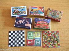 GIOCHI da tavolo vintage KIT 1:12th scala casa delle bambole giocattoli in miniatura UK Venditore