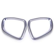 2x Chrome Finish Rearview Mirror Frame Cover Trim Fit BMW X5 F15 X6 F16 2014-16