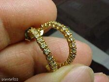 Hoop Earrings 14K Gold High Quality New Diamond Half