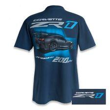 C7 ZR1 Corvette Life Begins Blue Cotton T-Shirt
