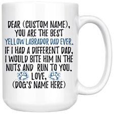 Personalized Yellow Labrador Retriever Dog Dad Gifts, Yellow Labrador Owner Mug