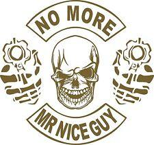 2nd Amendment Skull Gun No More Mr Nice Guy Car Truck Window Vinyl Decal Sticker