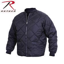 Rothco 7160 Diamond Nylon Quilted Flight Jacket - Navy Blue
