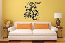 BORN TO RIDE MOTORBIKE Wall Art Sticker, Decal, Mural. Looks stunning!