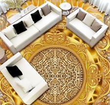 3D Pattern Gold 64 Floor WallPaper Murals Wall Print 5D AJ WALLPAPER AU Lemon