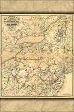Affiche, Plusieurs Tailles; Chemin de Fer Carte New York Pennsylvanie Jersey